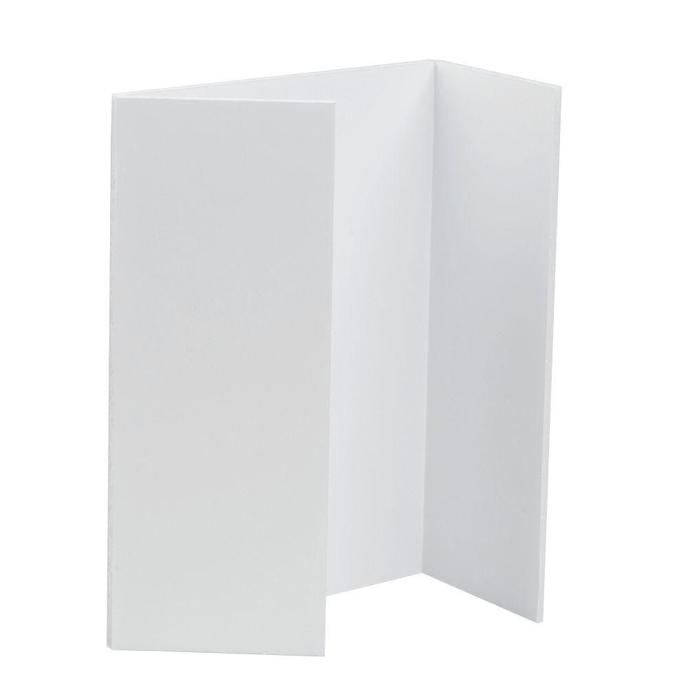 40 in. x 30 in. x 3/16 in. White Tri-Fold Project
