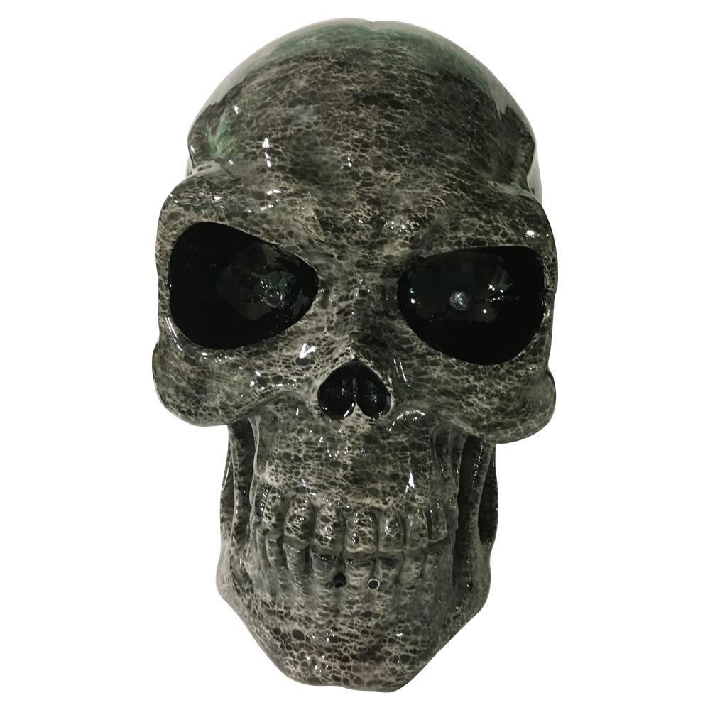 13.5 in. H Halloween LED Screaming Skull