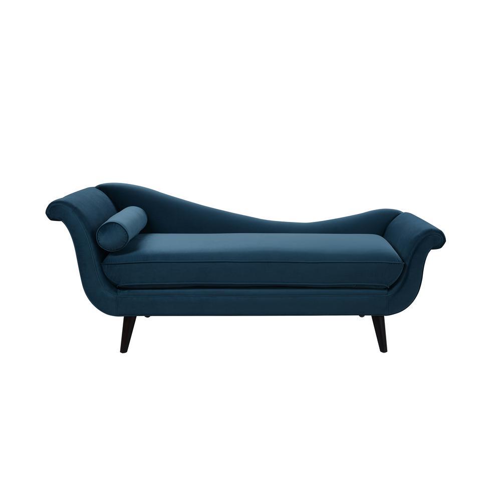 Satin Teal Kai Chaise Lounge