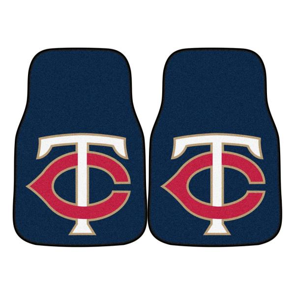 Minnesota Twins 18 in. x 27 in. 2-Piece Carpeted Car Mat Set
