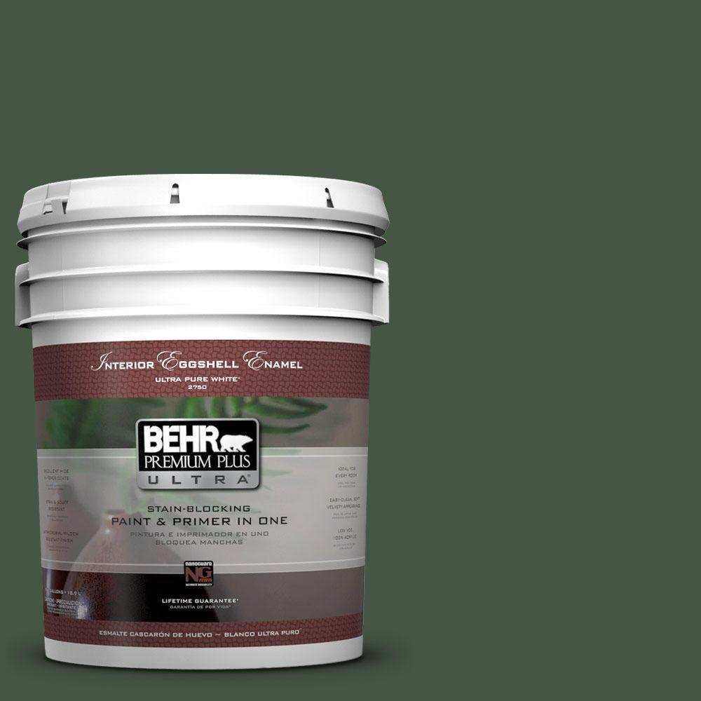 BEHR Premium Plus Ultra 5-gal. #ECC-11-3 Whispering Oaks Eggshell Enamel Interior Paint