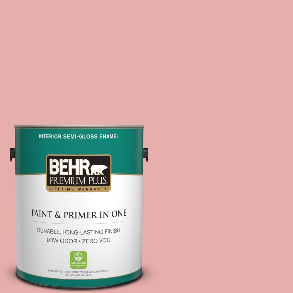 1-gal. #160C-3 Rose Silk Zero VOC Semi-Gloss Enamel Interior Paint