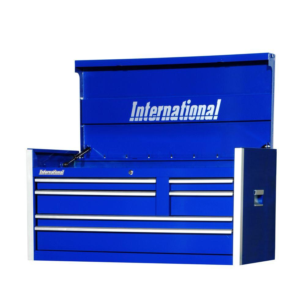 Pro Series 42 in. 6-Drawer Top Chest, Blue