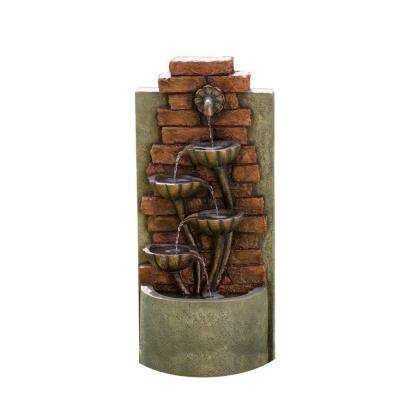 Cascading Bowls Wall Indoor/Outdoor Water Fountain