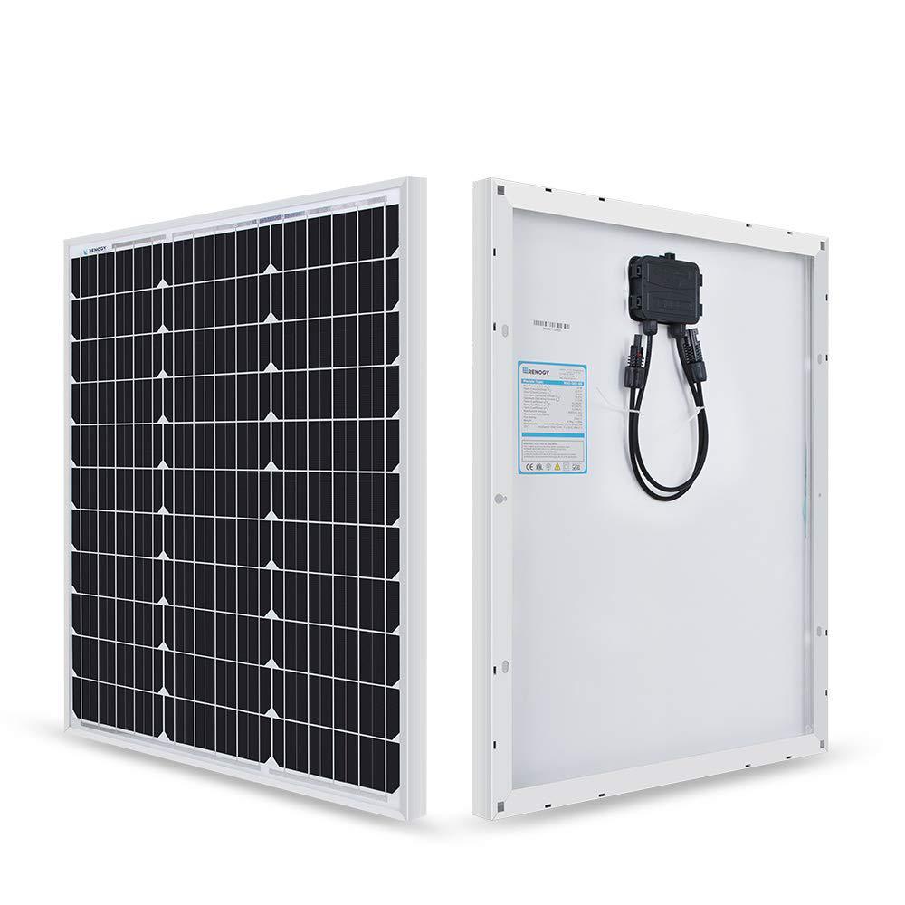 50-Watt 12-Volt Monocrystalline Solar Panel for Compact Design
