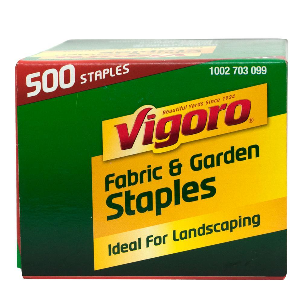 Vigoro 4 in. Weed Barrier Landscape Fabric Garden Staples (500-Pack)
