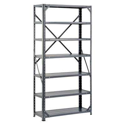 60 in. H x 30 in. W x 12 in. D Steel Canning Shelving Unit in Gray