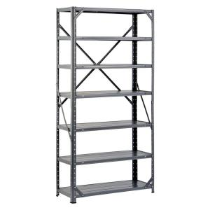 Edsal 60 inch H x 30 inch W x 12 inch D Steel Canning Shelving Unit in Gray by Edsal