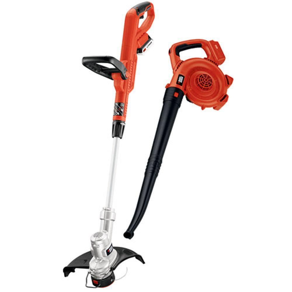BLACK+DECKER 20-Volt MAX Lithium-Ion Cordless String Trimmer and Sweeper Combo Kit (2-Tool) with 2.0Ah Battery and Charger Included