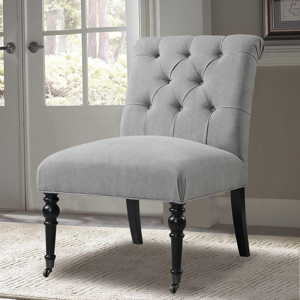 Gray Velvet Side Chair