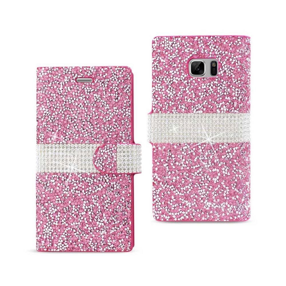 REIKO Galaxy Note 7 Folio Case in Pink