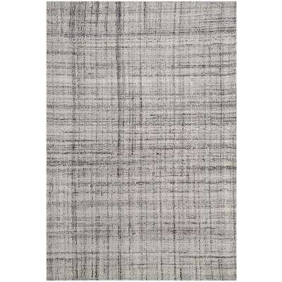 Abstract Gray/Black 6 ft. x 9 ft. Area Rug