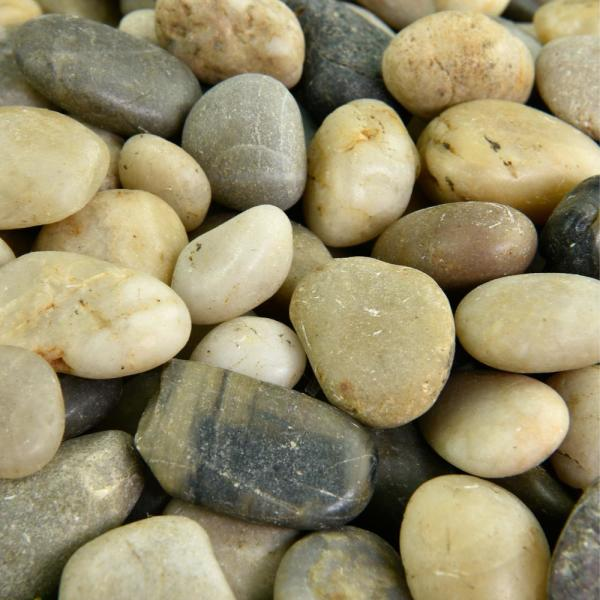 0.20 cu. ft. 3/8 in. - 5/8 in. 5 lbs. Small Mixed Polished Rock Pebbles for Planters, Gardens, Aquariums and More