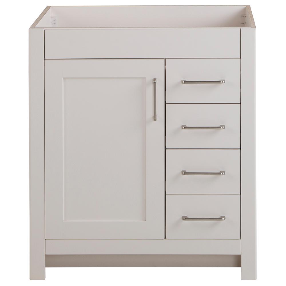 Westcourt 30 in. W x 21 in. D Bathroom Vanity Cabinet Only in Cream