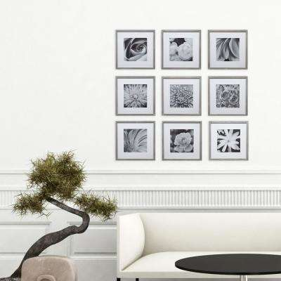 Gallery 8 in. x 8 in. Graywash Gallery Picture Frame (Set of 9)