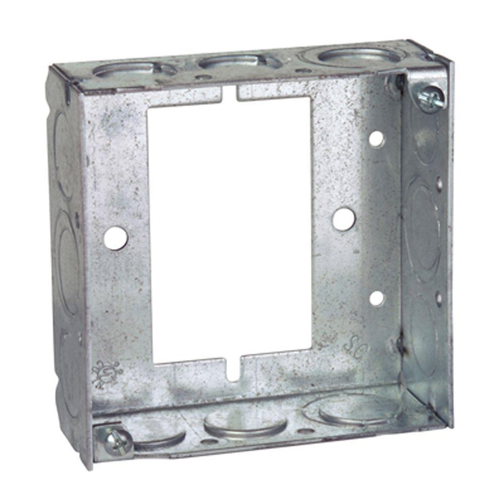 4 in. 21 cu. in. Pre-Galvanized Steel Square Box Extension Ring (Case of 25)
