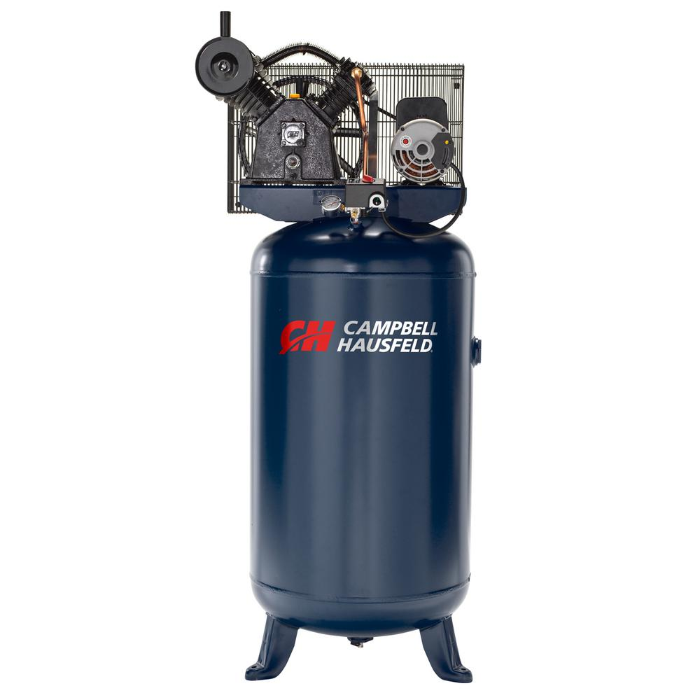 Campbell Hausfeld 2 Stage 80 Gal Stationary Electric Air Compressor Xc802100 The Home Depot