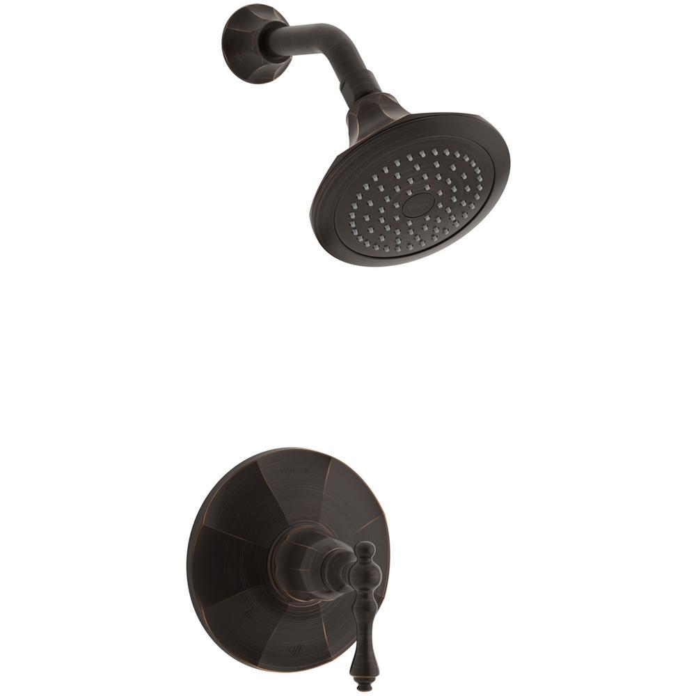 KOHLER Kelston 1-Spray 6.5 in. 2.5 GPM Fixed Showerhead in Oil-Rubbed Bronze