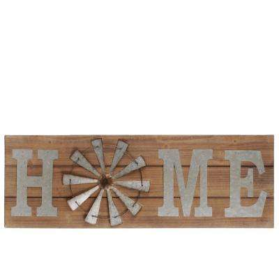 "13.50 in. x 40.25 in. ""Home"" Printed Wall Art"