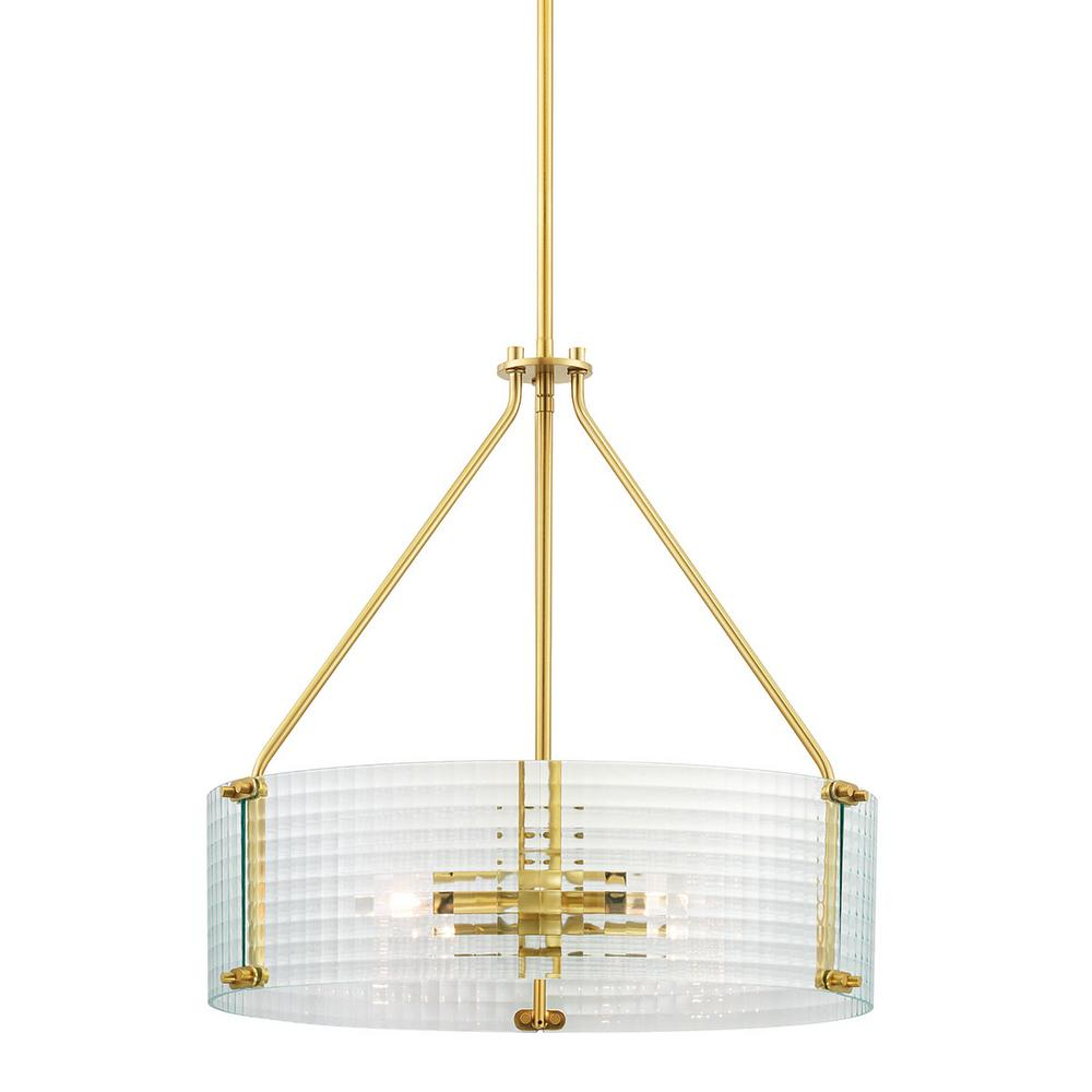 Home Decorators Collection Westlyn 4-Light Brushed Brass Pendant