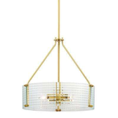 Westlyn 4-Light Brushed Brass Pendant