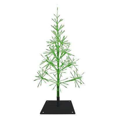 53 in. Festive Green Christmas Tree with Warm White LED Lights