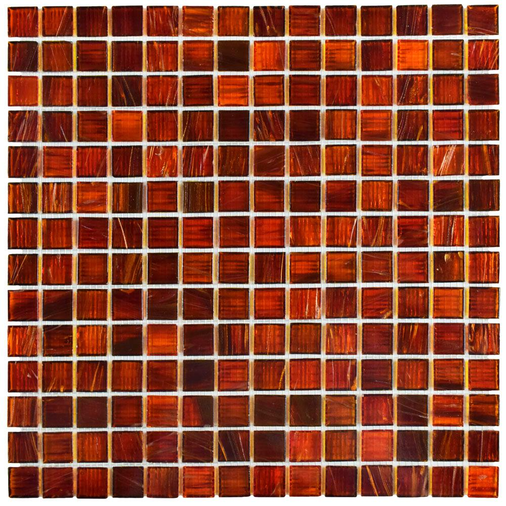 Merola Tile Coppa Genghis Red 12 In X 4 Mm Gl