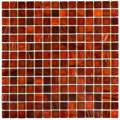 Coppa Genghis Red 12 in. x 12 in. x 4 mm Glass Mosaic Tile