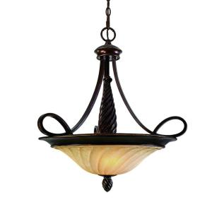 Laurent Collection 3-Light Cordoban Bronze Pendant