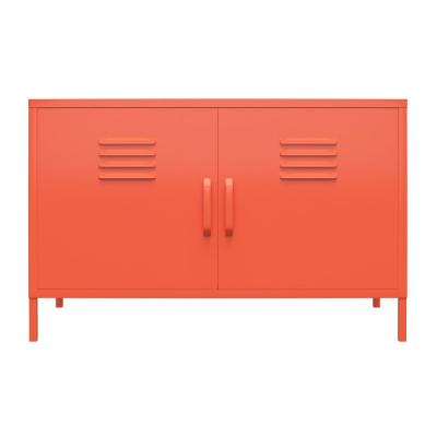 Cache Orange 2-Door Metal Locker Accent Cabinet