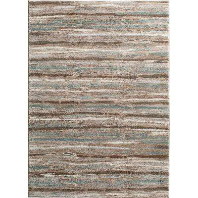 Shoreline Multi 5 ft. 3 in. x 7 ft. 4 in. Striped Area Rug