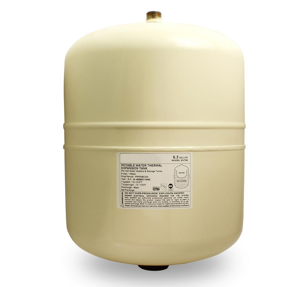 6.3 Gal. Portable Hot Water Heater Thermal Expansion Pressure Tank