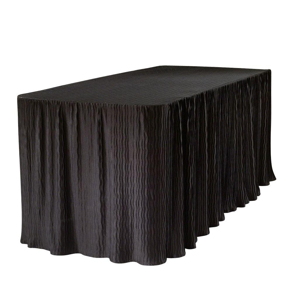 Charmant The Folding Table Cloth 6 Ft. Black Table Cloth Made For Folding Tables