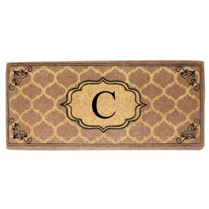 A1HC First Impression Gayle Ogee Handmade 24 inch x 57 inch Entry Double Monogrammed C... by