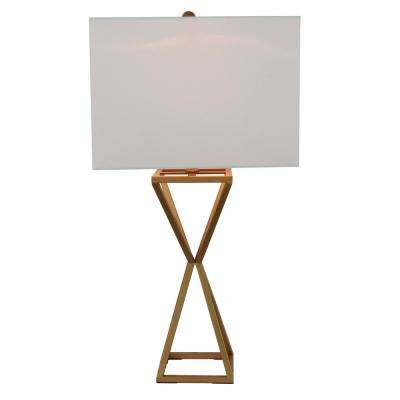 Margaret 30 in. Gold Table Lamp with Linen Shade