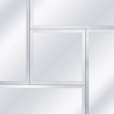 27.5 in. Clear Geometric Frameless Beveled Decorative Wall Mirror