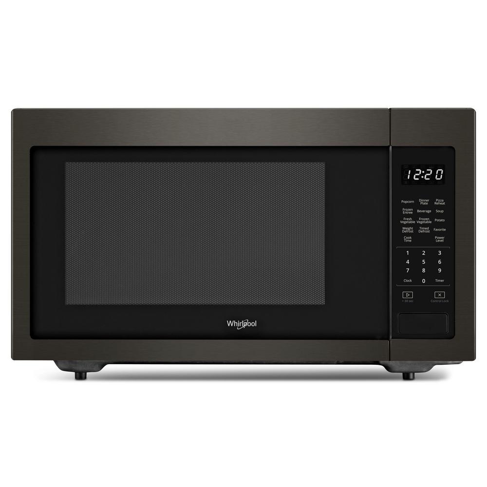 1.6 cu. ft. Countertop Microwave in Fingerprint Resistant Black Stainless with 1,200-Watt Cooking Power