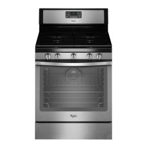 Click here to buy Whirlpool 5.8 cu. ft. Gas Range with Self-Cleaning Convection Oven in Stainless Steel by Whirlpool.