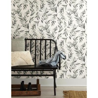 56 sq.ft. Olive Branch Wallpaper
