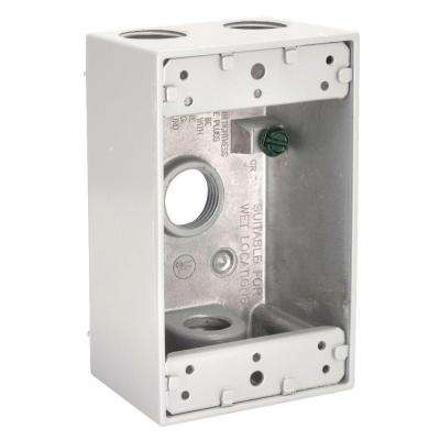 1 Gang Weatherproof Box with Four 1/2 in. Outlets