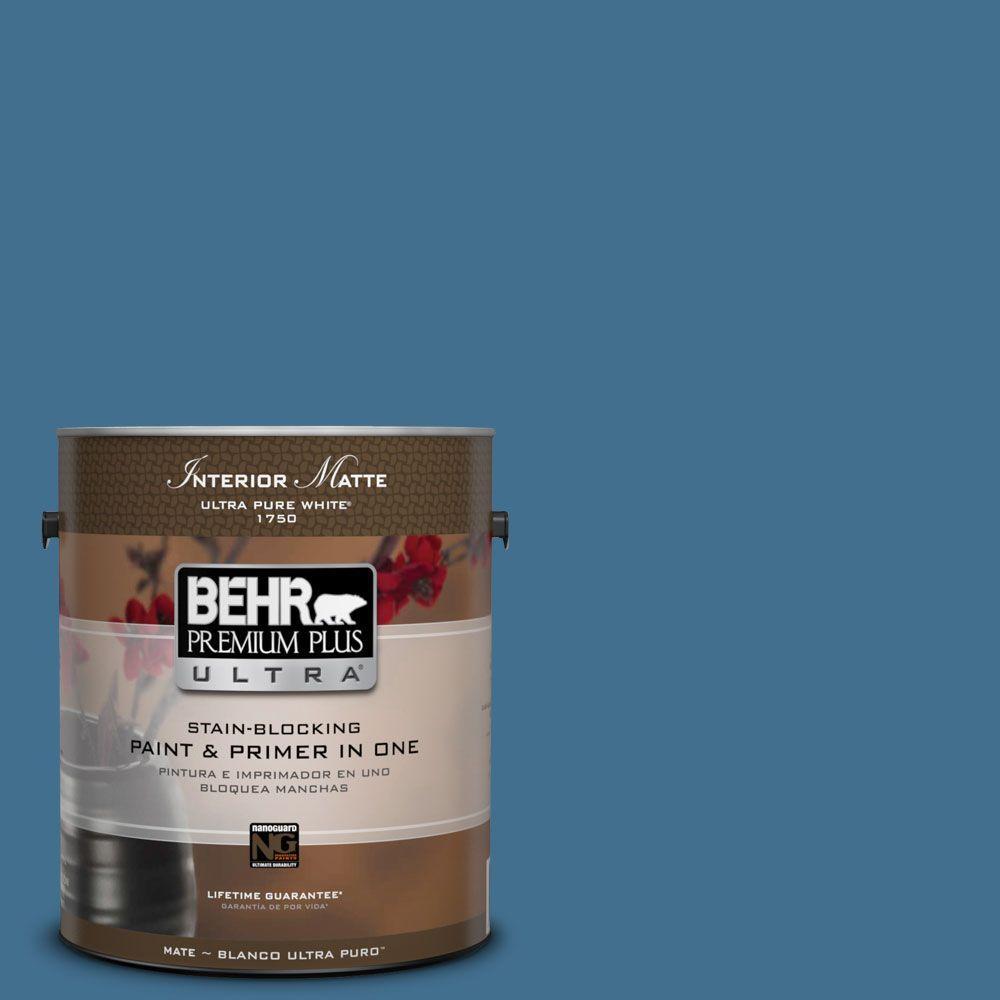 1 gal. #M500-5 Sojourn Blue Matte Interior Paint