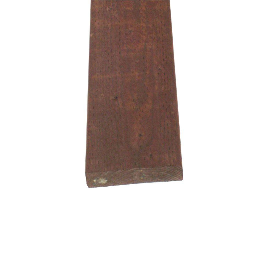 null Pressure-Treated Lumber HF Brown Stain (Common: 2 in. x 8 in. x 10 ft.; Actual: 1.5 in. x 7.25 in. x 120 in.)