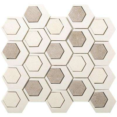 Catalyst Pluto 12.6 in. x 13.62 in. x 8 mm Cast Stone Mesh-Mounted Mosaic Tile (1.19 sq. ft.)