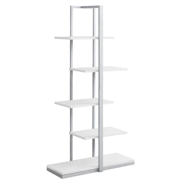 60 in. White with 5-Shelves Composite Bookcase