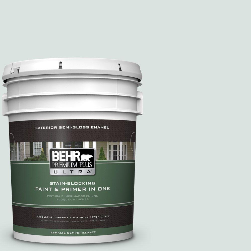 BEHR Premium Plus Ultra 5-gal. #N430-1 Mountain Peak White Semi-Gloss Enamel Exterior Paint
