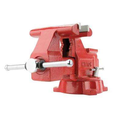 656HD 6.25 in. Utility Workshop Vise with Swivel Base, 4-3/16 in. Throat Depth