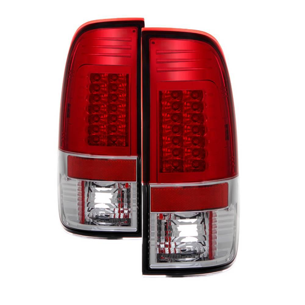 Ford F150 Styleside 97 03 F250 350 450 550 Super Duty 99 07 Version 2 Led Tail Lights Red Clear