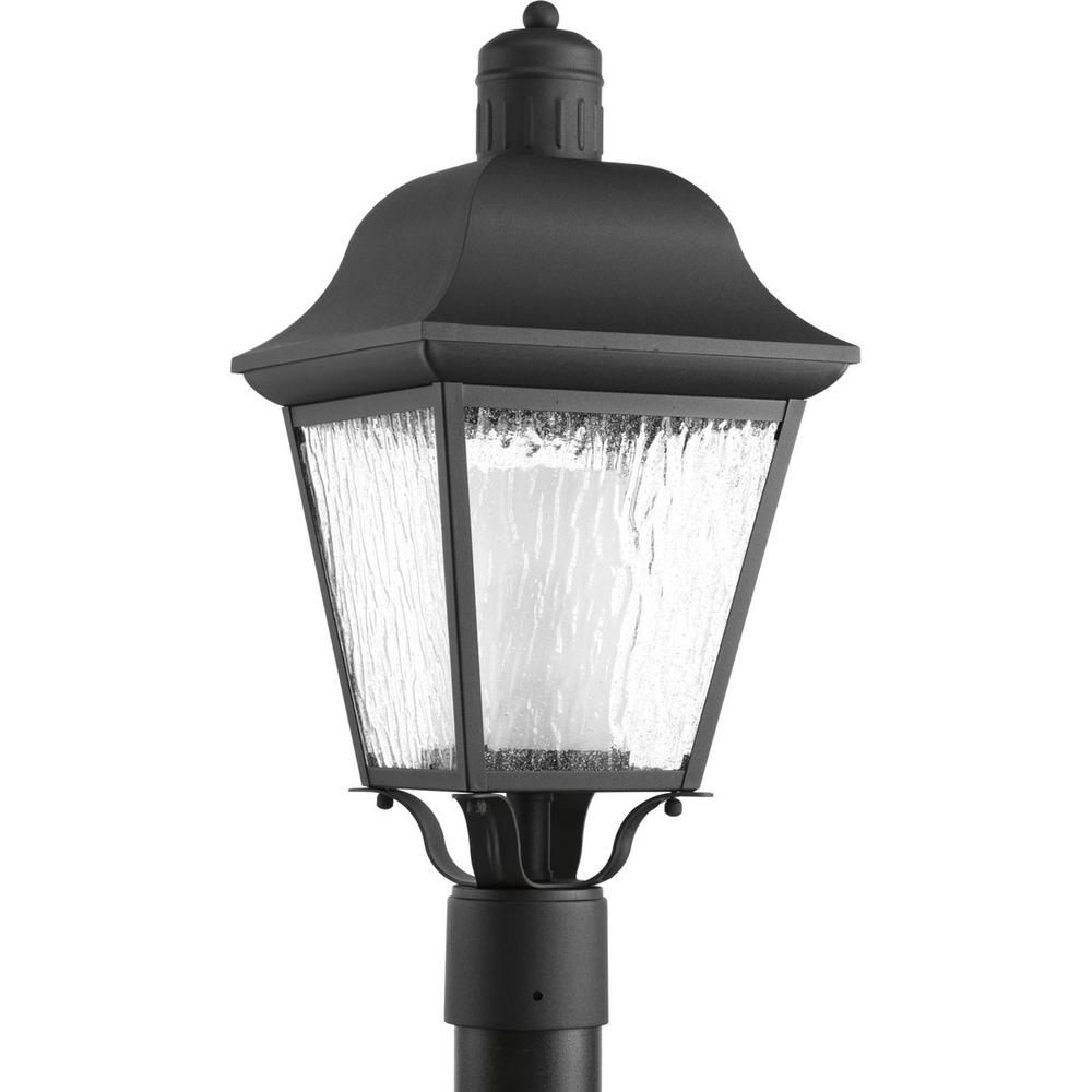 Andover Collection 1-Light Black Outdoor Post Lantern