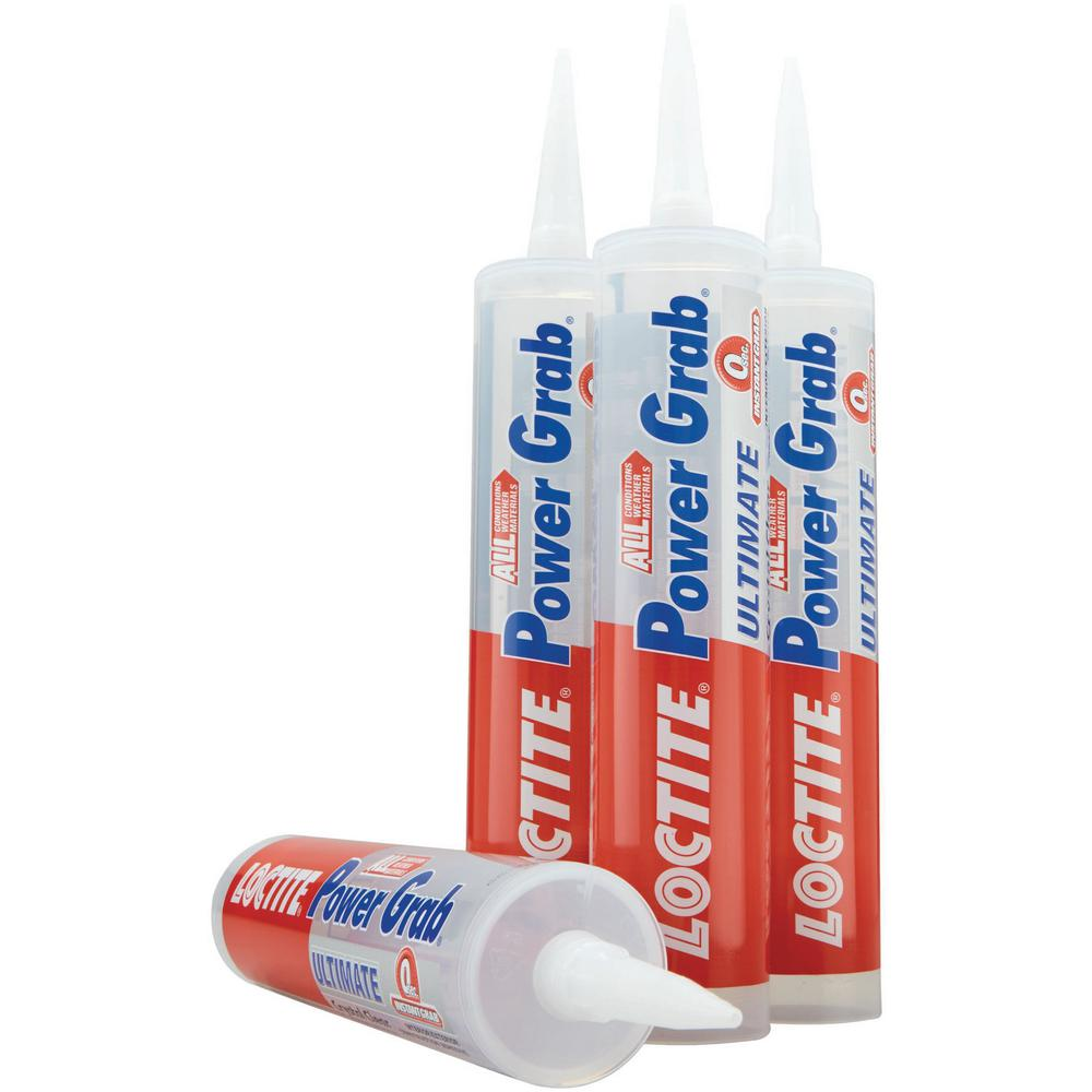 Loctite Power Grab Ultimate Crystal Clear 9 fl. oz. Construction Adhesive (12-Pack)
