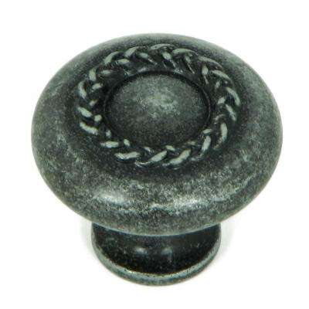 1-1/4 in. Swedish Iron Round Rope Design Cabinet Knob (10-Pack)